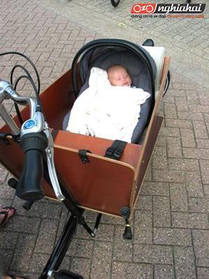 Xe đạp chở hàng – cách tuyệt vời để đạp xe với em bé